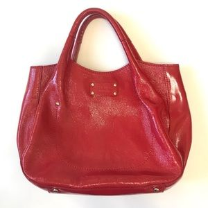 KATE SPADE Patent Textured Leather Hobo Bag